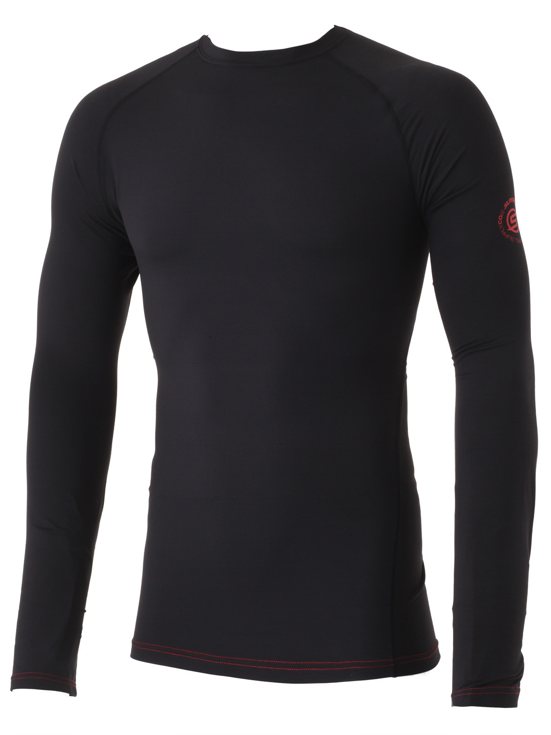fa6ca1497bf7a Surfanic Mens Ski Thermal Base Layer Top Black Underwear Snowboard ...
