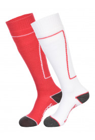 Womens Pro 2pk Socks Red
