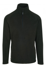 Mens Thermal Zip Micro Fleece Green