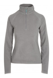 Womens Warm Zip Micro Fleece Grey