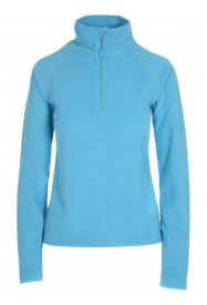 Womens Warm Zip Micro Fleece Blue