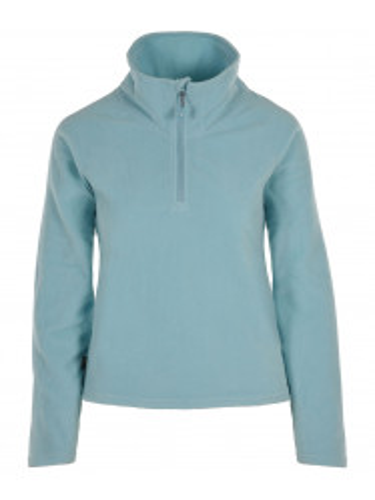 Womens Recycled  Warm Zip Micro Fleece Blue