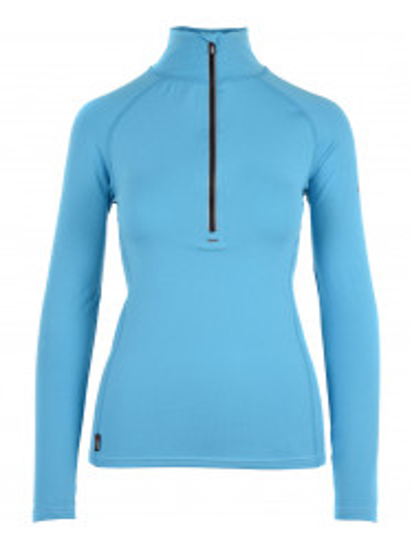 Womens CarbonDri Cozy Zip Neck Blue