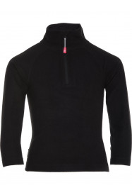 Girls Warm Zip Micro Fleece Black
