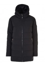 Girls Confetti Longline Faux Down Jacket Black