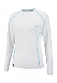 Girls Crew Neck Plain Baselayer White
