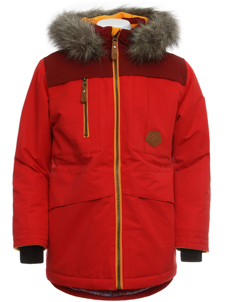 b1c37ed59 Color Kids Sakata Parka Coat Red Winter Parker Jacket New Kids ...
