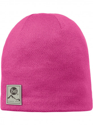 Mens Womens Solid Knitted & Polar Hat Pink