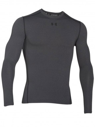 Mens Coldgear Armour Compression Crew Grey