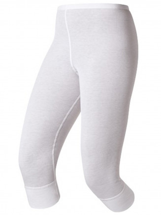 Womens Base Layer Warm 3/4 Pants White