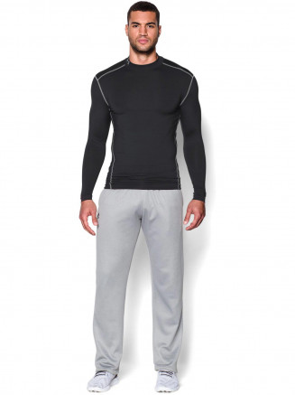 Mens Coldgear Armour Compression Mock Black