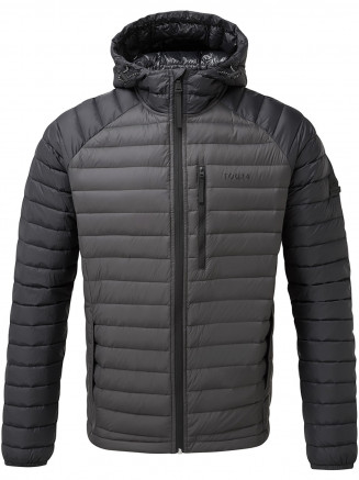 Mens Beck Hooded Down Jacket Grey