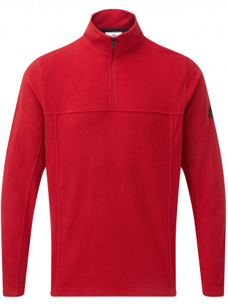 Mens Hecky Fleece Zip Neck Red