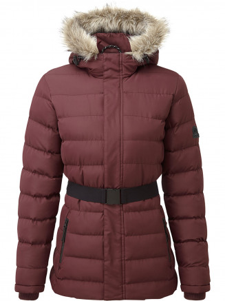 Womens Storey Long Insulated Jacket Red