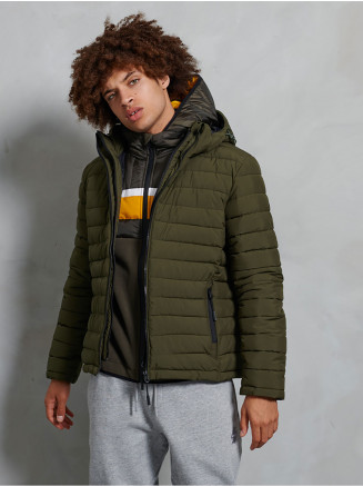 Mens Hooded Fuji Jacket Green