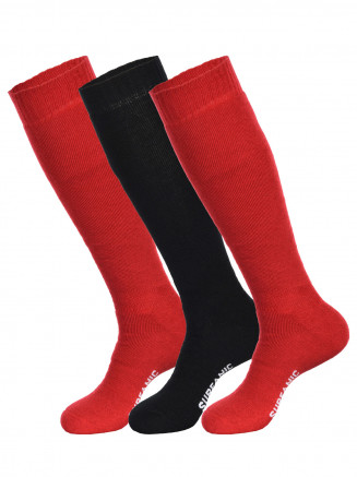 Mens Pro Tech 3pk Socks Red