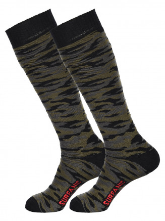 Mens Pro Tech Camo 2pk Socks Grey