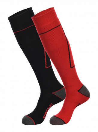 Mens Pro Socks 2pk Red