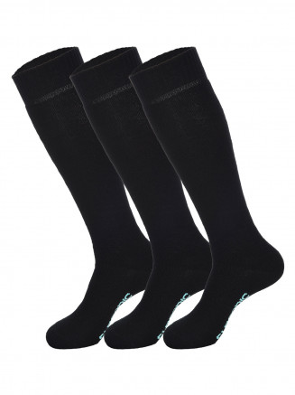 Womens Pro Tech 3pk Socks Black