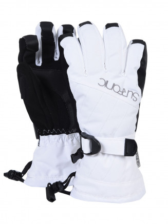 Girls Cushy Surftex Glove White