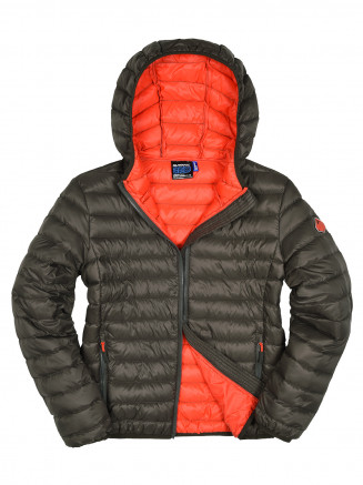 Boys Hawk Lightweight Down Jacket Green