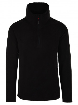 Mens Thermal Zip Micro Fleece Black