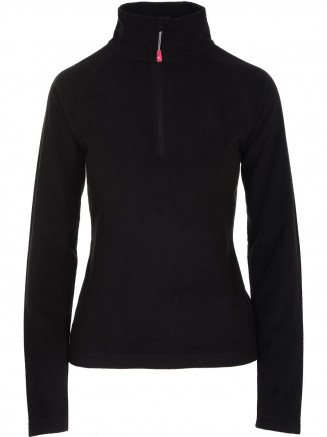Womens Warm Zip Micro Fleece Black