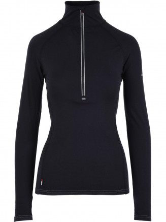 Womens Cozy Zip Neck Black