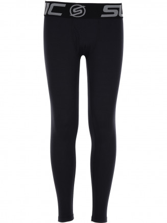 Boys CarbonDri Bodyfit Long Johns Black