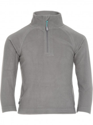 Girls Warm Zip Micro Fleece Grey