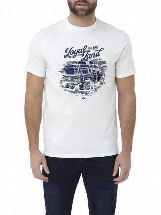 Mens Kelton Graphic T-shirt Loyal White