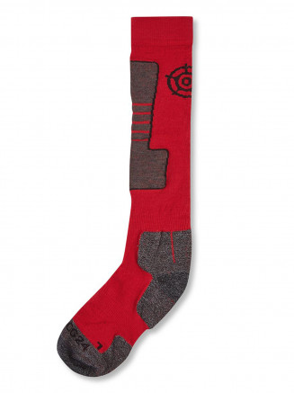 Mens Womens Ellmau Ski Socks Red