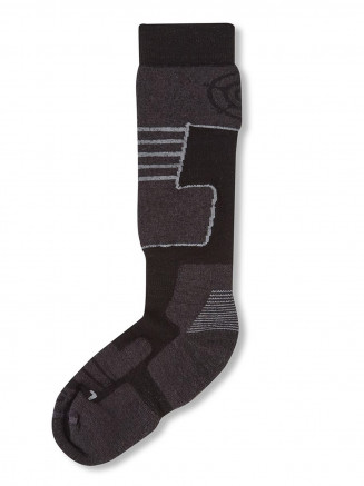 Mens Womens Scheffau Ski Socks Black