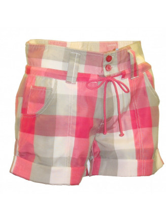 Womens Masu Check Ski Short Pink
