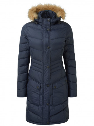 Womens Buffy Down Jacket Blue