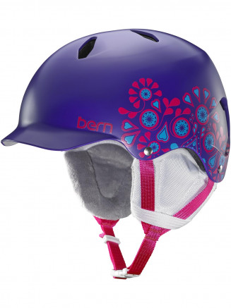 Mens Bandita Thin Shell Helmet With Eps Foam Purple