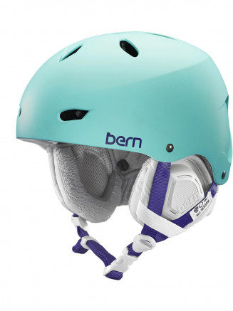 Womens Brighton Thin Shell Helmet With BOA Winter Liner Turquoise