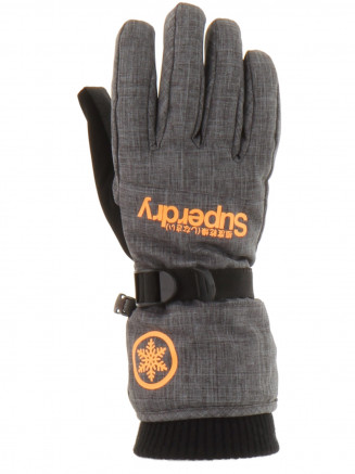 Mens Ultimate Snow Service Glove Grey