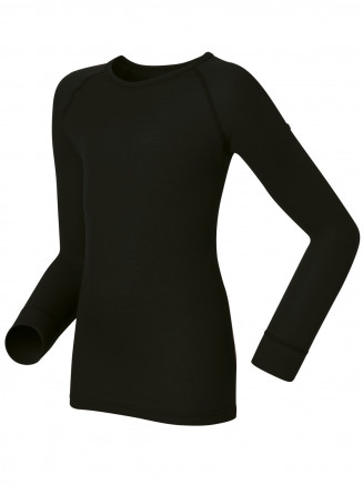 Kids Base Layer Warm Long Sleeve Crew Neck Black