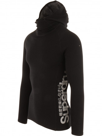 Mens Merino Base Layer Hood Black