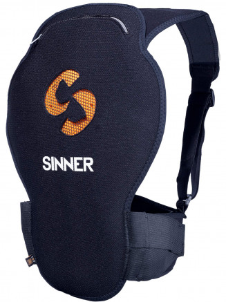 Mens Womens Castor Spine Protector Black