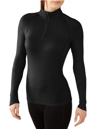 Womens Base Layer NTS Light 195 Zip Top Black