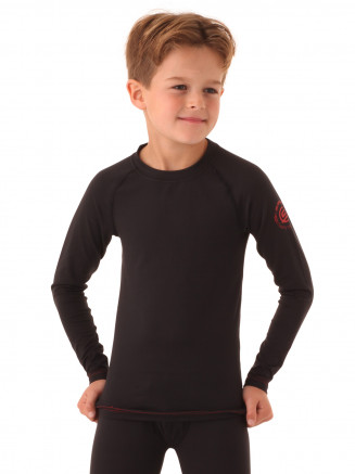 Boys Ziggy Crew Neck Baselayer Black