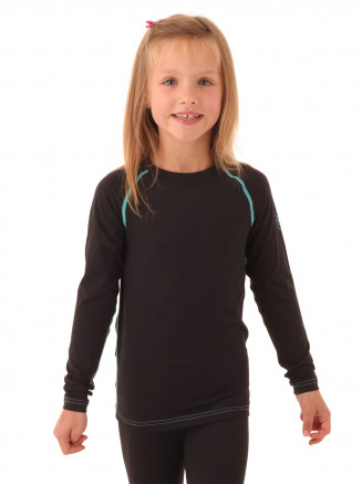 Girls Lockie Crew Neck Baselayer Black