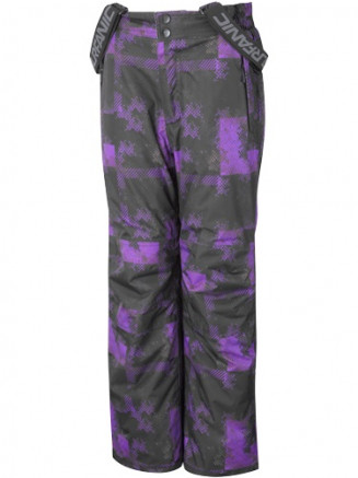 Purple Bail Erosion Print Boys Ski Pants