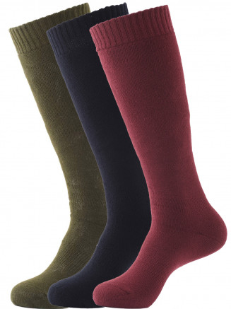Pro Tech 3 Pack Ski Sock Red