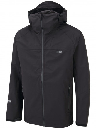 Mens Shoreline 3 Layer Waterproof Jacket Black