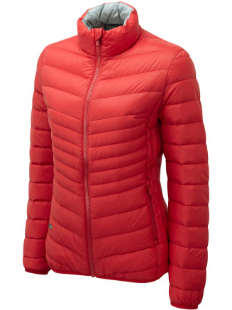 Womens Lynx Down Jacket Red