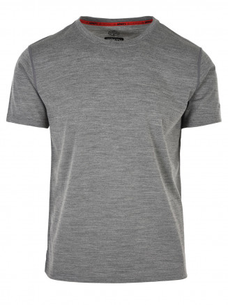 Mens Pinnacle Merino Tee Grey