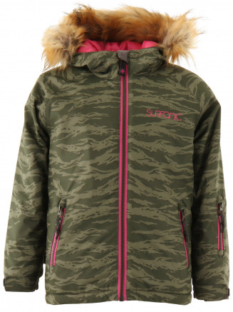 Girls Labyrinth Surftex Ski Jacket Green